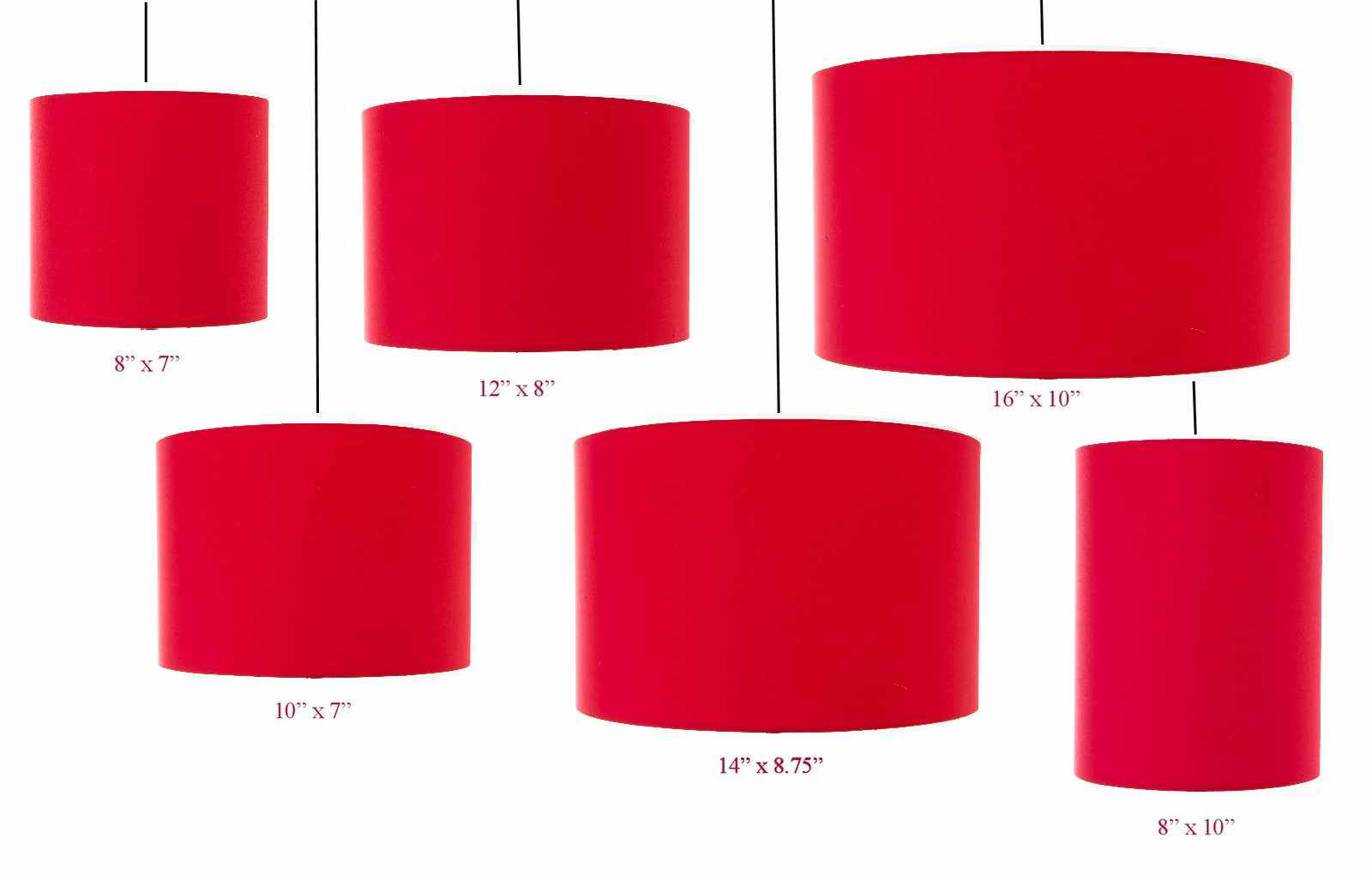 Red drum cylinder lampshade 20cm 25cm 30cm 35cm 40cm 45cm aloadofball Image collections